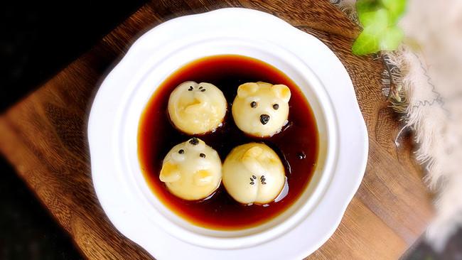 黑芝麻豆腐汤圆#重返18岁的少女心美食#的做法