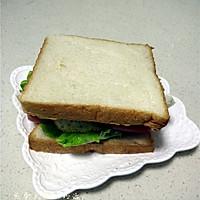 煎蛋火腿三明治的做法图解11