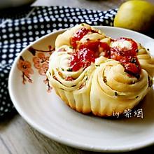 香葱番茄酱火腿肠面包
