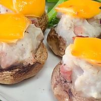 芝士培根芋泥烤口蘑—快手小食系列的做法图解20