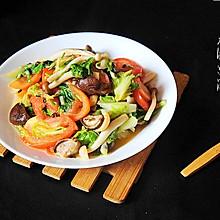 爆炒杂菌小白菜#厨此之外,锦享美味#