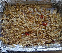 锡纸蒜蓉金针菇(烤箱版)的做法