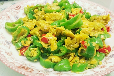 青椒炒土鸡蛋