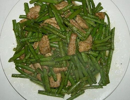 豇豆角炒肉的做法
