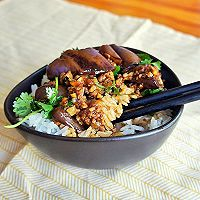 蒜香肉末酱茄子--米饭杀手(4)的做法图解12