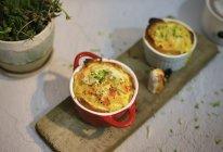快手营养边角料:番茄蔬菜鸡蛋杯#太太乐鲜鸡汁玩转健康快手菜#的做法