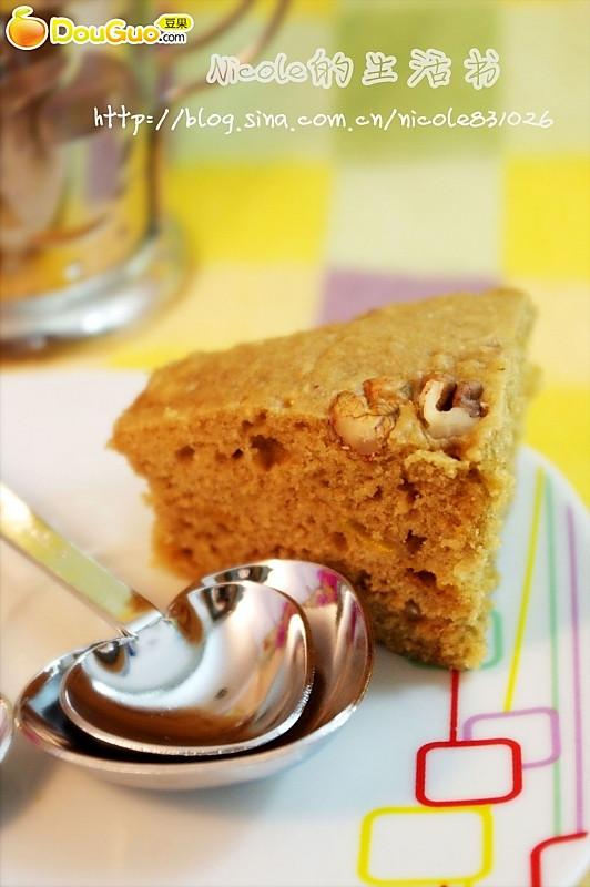 微波核桃咖啡蛋糕的做法