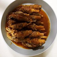 家庭版牛肉卷金针菇