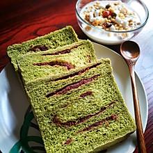 抹茶豆沙汤种吐司 面包机版