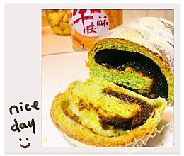 #憋在家里吃什么#菠菜红豆肉酥包的做法