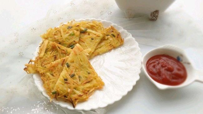 早餐不知道吃什么?试试快手简单又营养的土豆丝煎饼吧!的做法