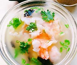 滑爽虾片汤的做法