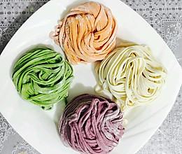 缤纷果蔬汁彩色面条的做法