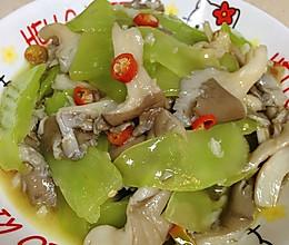 自贡小女人~香炒平菇莴笋的做法