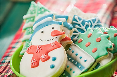 圣诞树饼干(不用模具)