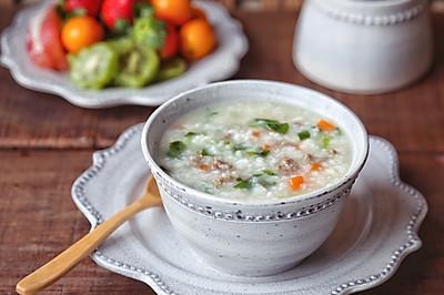 牛肉青菜粥#柏翠辅食节-营养佐餐#