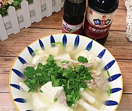 #橄榄中国味 感恩添美味#鲜菇豆腐瘦肉汤的做法