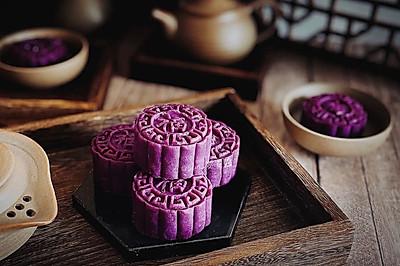 紫薯红豆糕