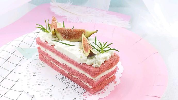 #美食新势力#草莓戚风无花果蛋糕
