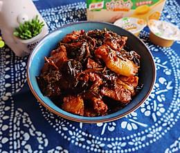 #饕餮美味视觉盛宴#菜薹干烧肉的做法