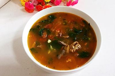 西红柿羊杂汤