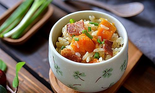 南瓜培根饭的做法