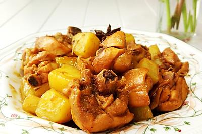 家常土豆焖鸡块