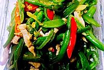 家常四季豆炒肉丝的做法