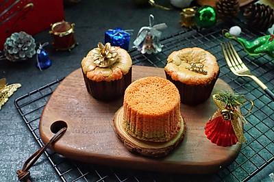 #令人羡慕的圣诞大餐#圣诞杯子蛋糕