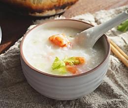 软糯黏稠的鲜虾砂锅粥是这样熬成的!的做法