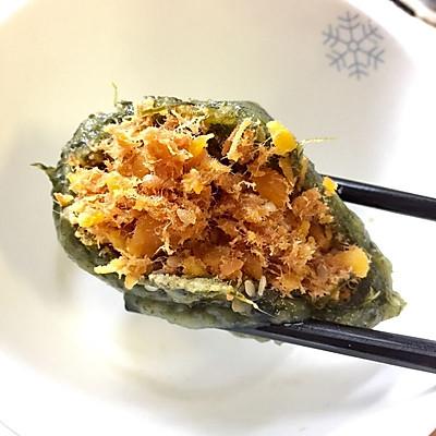 咸蛋黄肉松—网红青团