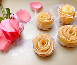 #换着花样吃早餐#玫瑰花苹果派(手抓饼版)的做法