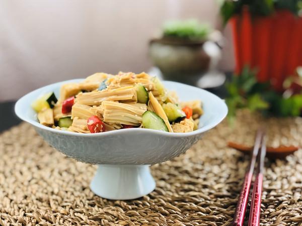 简单的凉拌腐竹 纯净素食