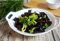 减肥餐食:西兰花拌木耳的做法