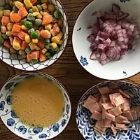 饭菜合一的营养低卡简餐-培根炒饭的做法图解2