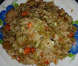 云豆角焖饭的做法