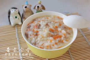 元气早餐--胡萝卜肉末粥【图片】