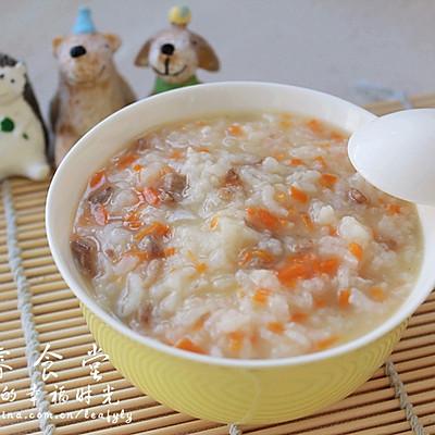 元气早餐--胡萝卜肉末粥