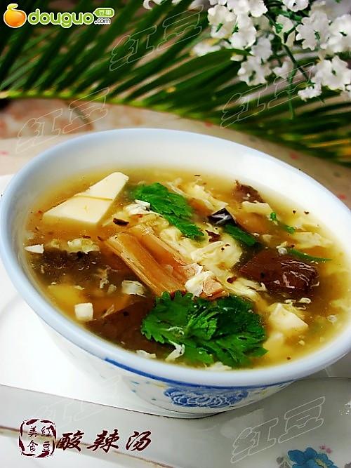 夏日里的一碗开胃汤--酸辣汤的做法