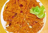 #春季减肥,边吃边瘦#减脂期也可以吃的土豆丝泡菜煎饼的做法