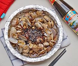 #李锦记旧庄蚝油鲜蚝鲜煮#锡纸金针菇花甲的做法