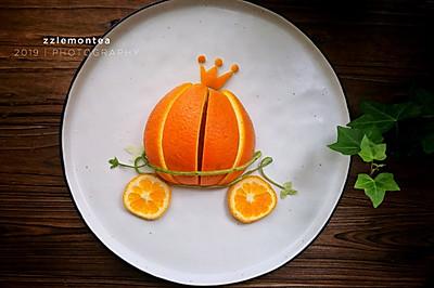 #创意摆盘#橙子南瓜车