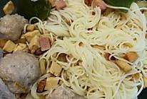 浇头肉丸竹升面的做法