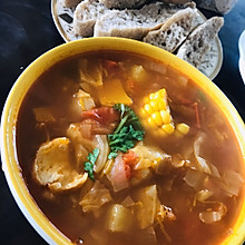 刷脂蔬菜浓汤/番茄玉米浓汤
