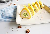 秋葵香芋鸡蛋卷的做法