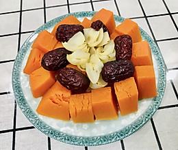 百合红枣蒸南瓜~不一样的味道的做法