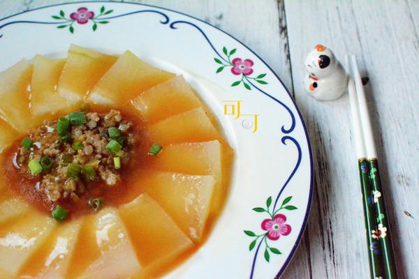 肉末蒸冬瓜:夏天家常蒸菜的做法