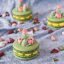 花式抹茶百香果马卡龙#暖色秋季##马卡龙·奶油蛋糕看过来#