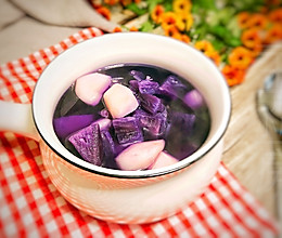 #换着花样吃早餐#快手甜汤~紫薯马蹄糖水的做法