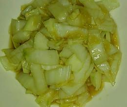 水炒溜白菜茎的做法